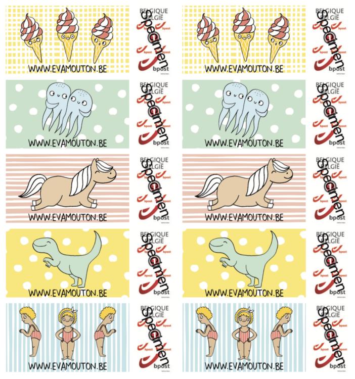 eva's postzegels x10