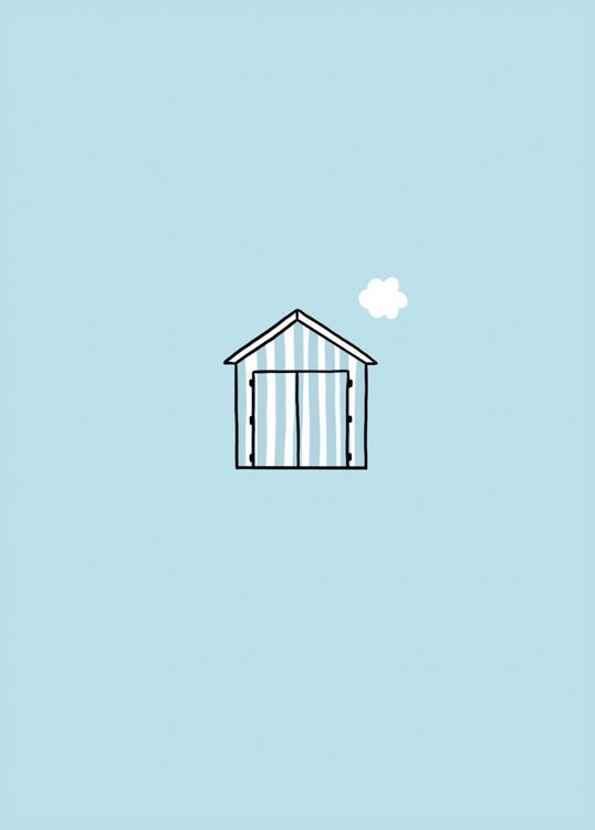 wenskaart zee kabine