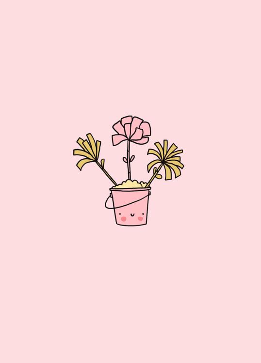 wenskaart zee bloemen