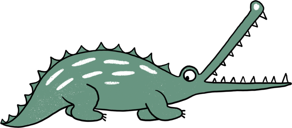 Krokodil strijkapplicatie