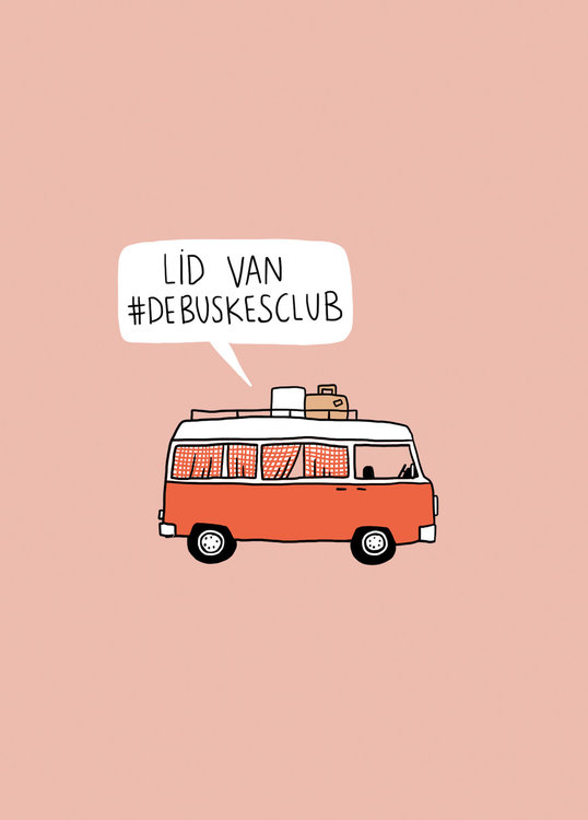 wenskaart buskesclub