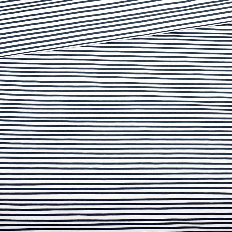 Blue stripes french terry