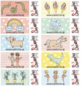 eva's postzegels x20